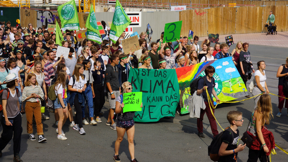 Photo shows Fridays For Future protesters in Dortmund 2019. Photo: CLEW/Mohn.