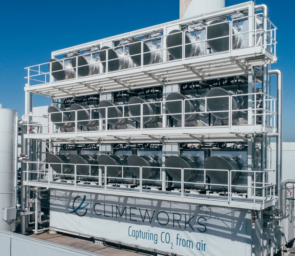 Climeworks CO2 capture plant. Photo: Climeworks