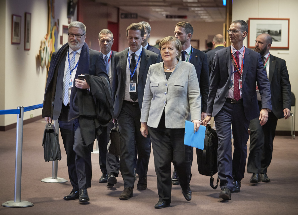 German chancellor Angela Merkel and her team of advisors at the European Council summit in December 2019. Photo: European Union.