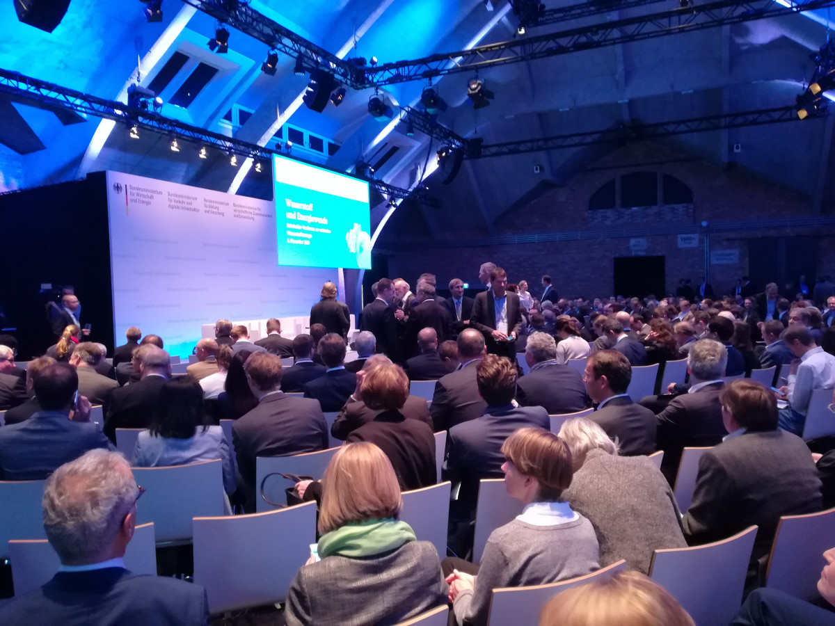 Photo of the German government's hydrogen stakeholder conference in Berlin on 5 November 2019. Photo: CLEW 2019.