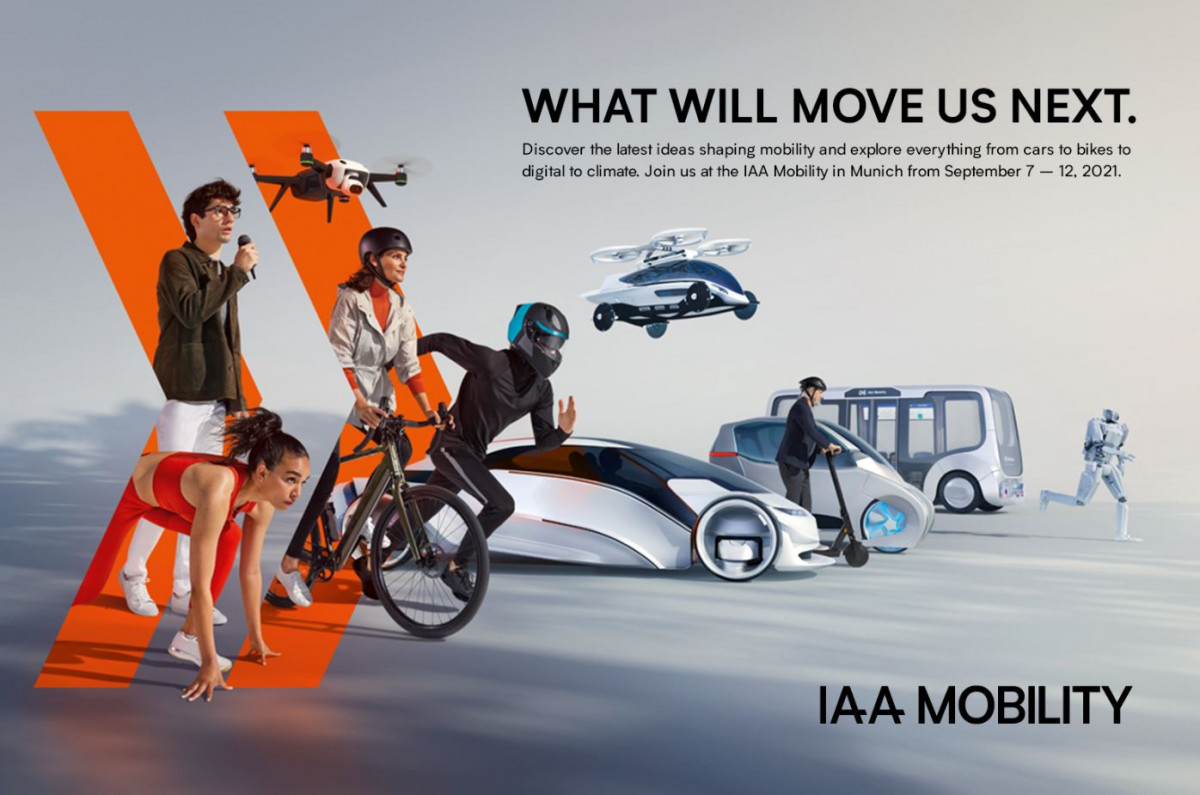 Advertisement for the IAA 2021. Image: IAA.