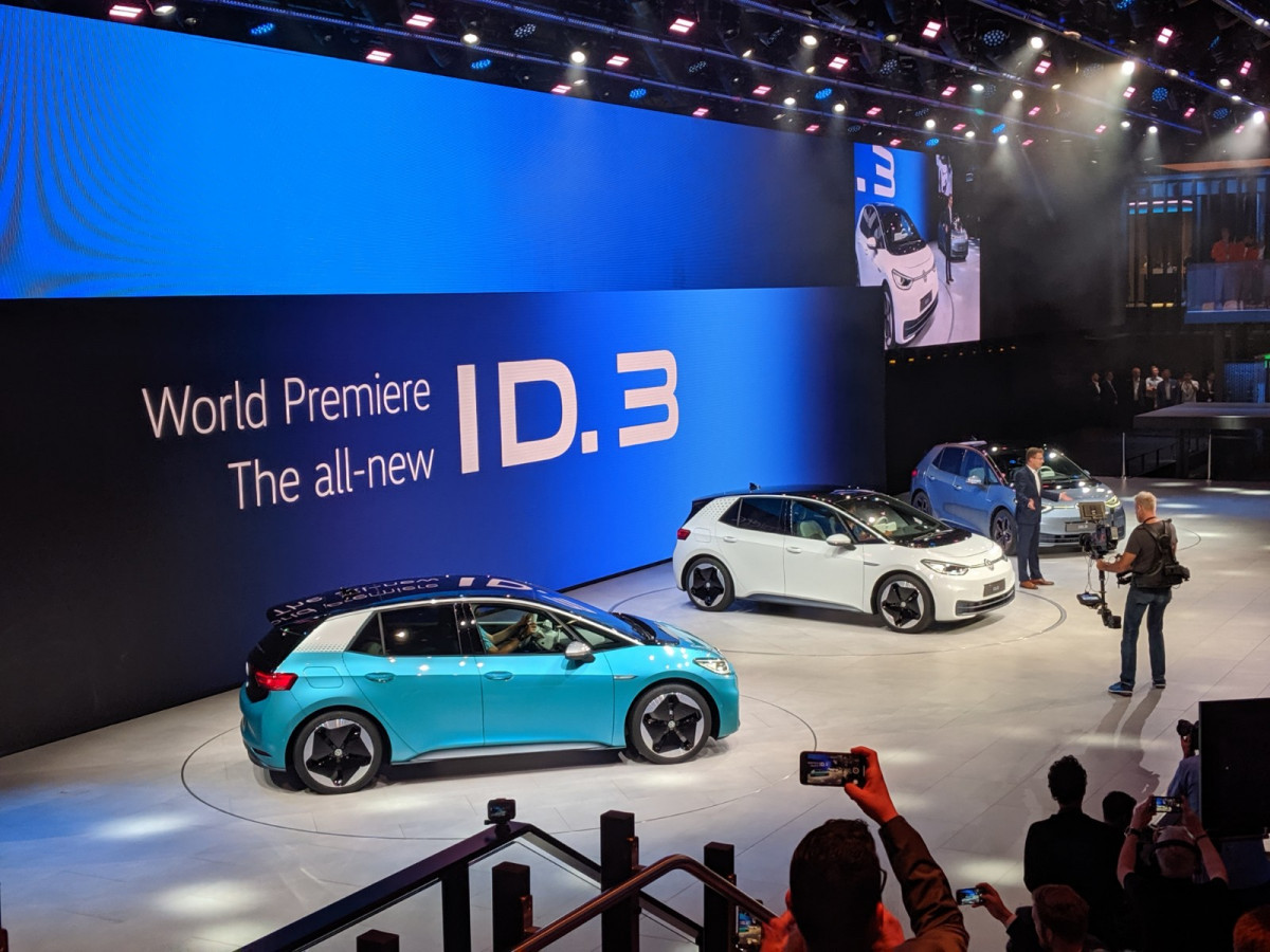 Unveiling the ID.3 at the Frankfurt motor show. Photo CLEW
