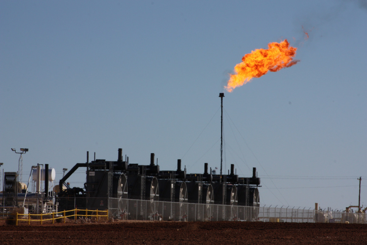 Gas flare near Big Spring, Texas. Photo: CLEW/Wettengel 2020.
