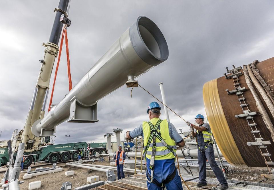 Nord Stream 2 construction work
