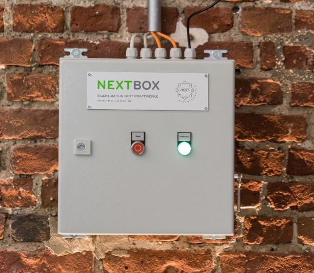 "The company's ""Next Box"" connects renewable power installations in the Next Pool to the central control system. Photo Next Kraftwerke/Jennifer Braun"