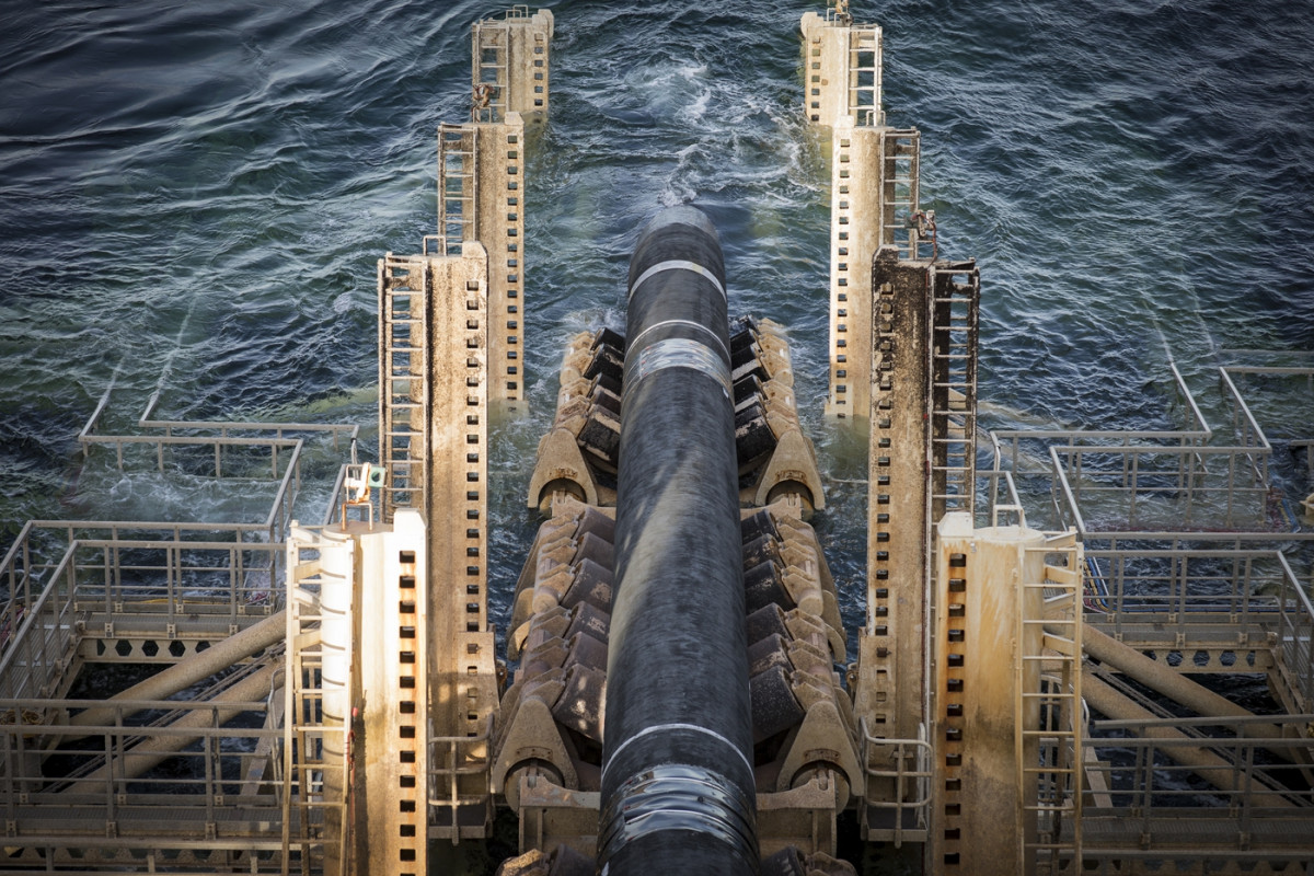 Photo shows the Nord Stream 2 pipeline. Photo: Nord Stream 2 AG / Axel Schmidt.