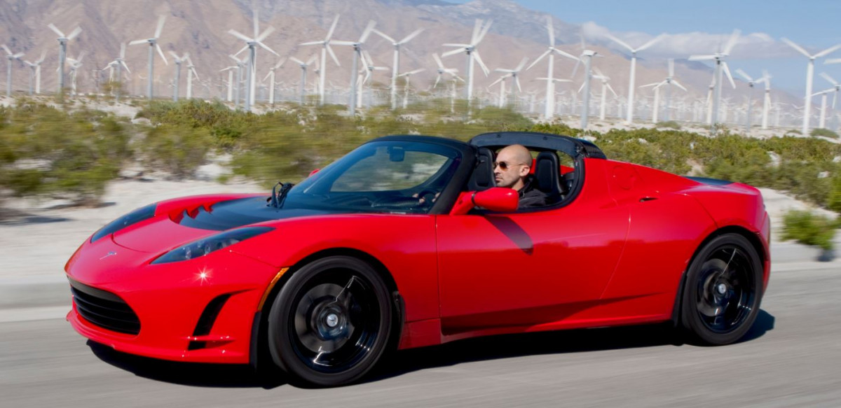 The Tesla Roadster. Image Wikipedia