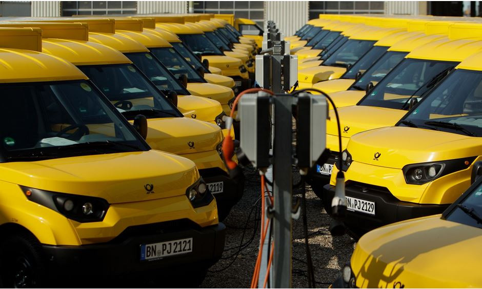 Deutsche Post DHL made their own electric delivery van - the Streetscooter. Image by DHL