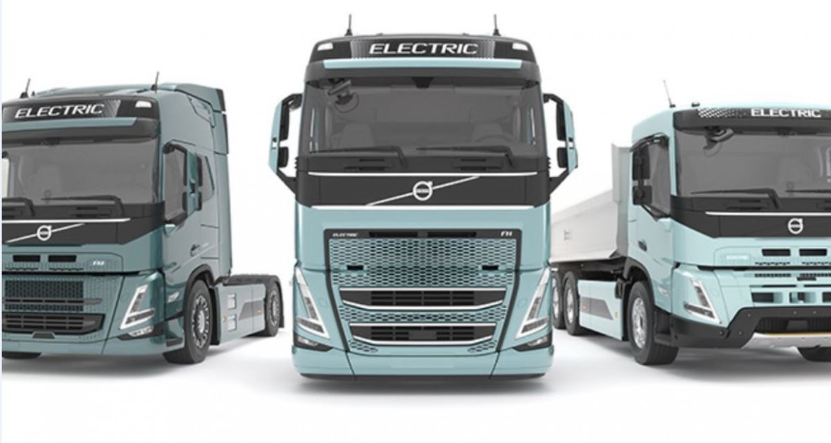 Volvo recently announced a range of electric trucks. Image by Volvo