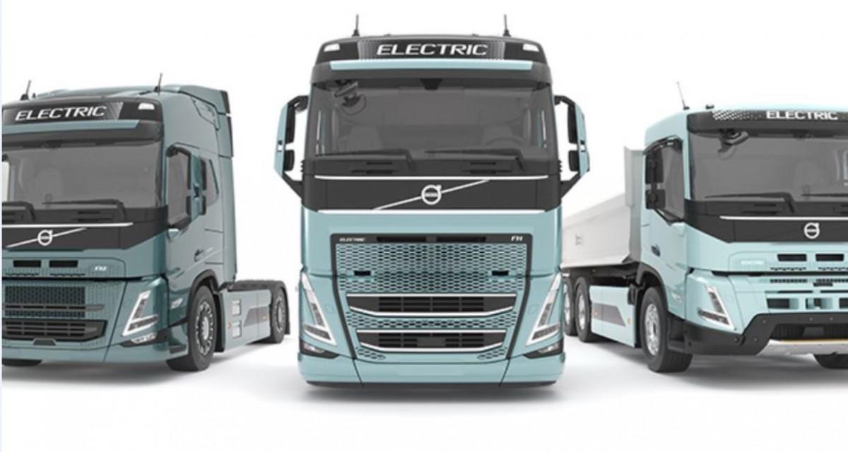 Volvo electric trucks. Image by Volvo
