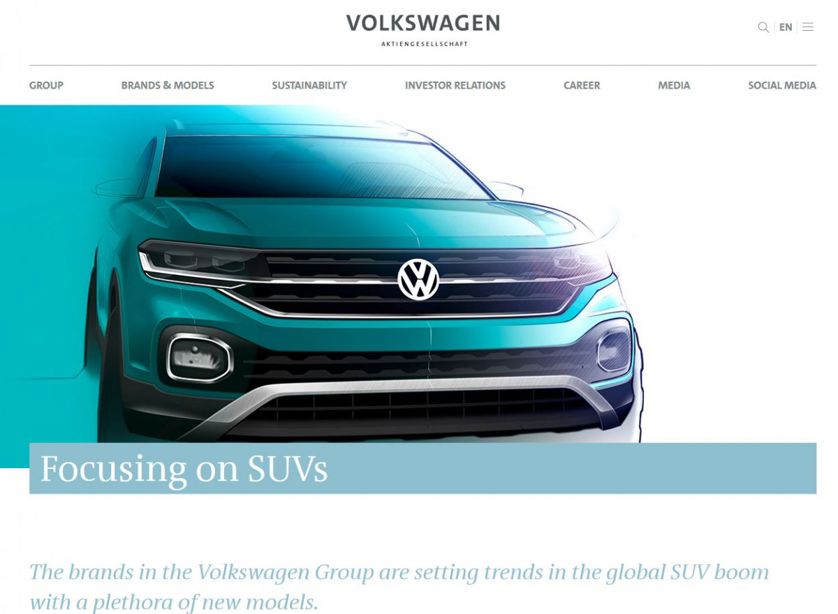Screenshot from VW website - https://www.volkswagenag.com/en/news/stories/2018/10/focusing-on-suvs.html